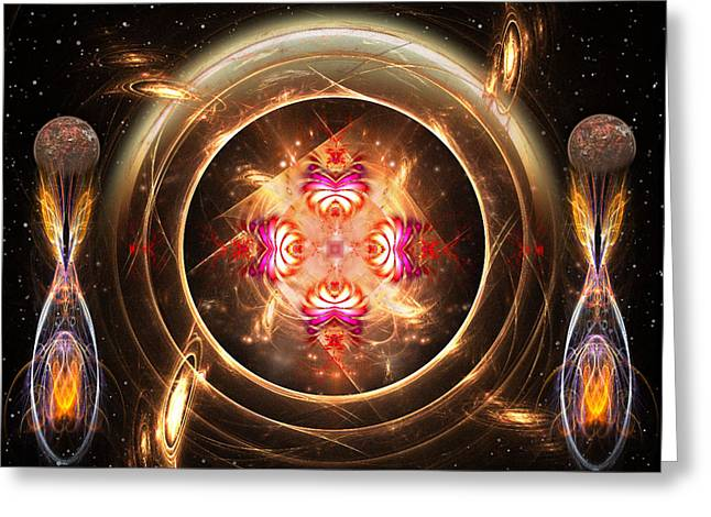 Abstract Digital Mixed Media Greeting Cards - Cosmic Creations Greeting Card by Mario Carini