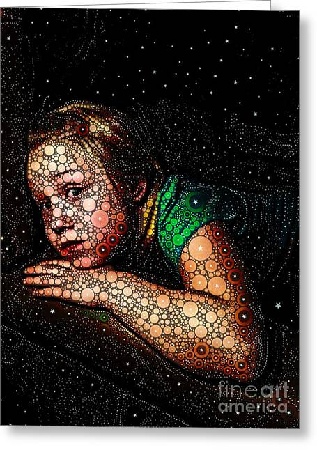 Cosmic Dust Greeting Card by Ron Bissett