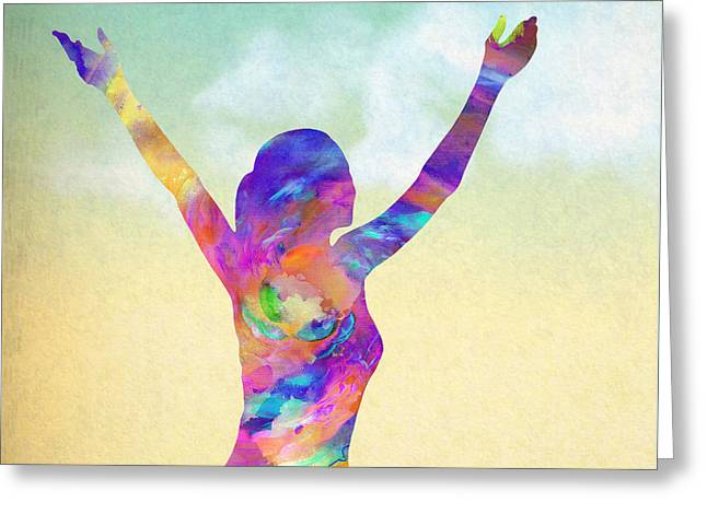 Cosmic Meditation - Texture Greeting Card by Stacey Chiew