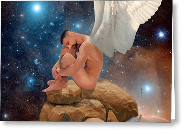 Cosmic Skies Greeting Card by Crispin  Delgado