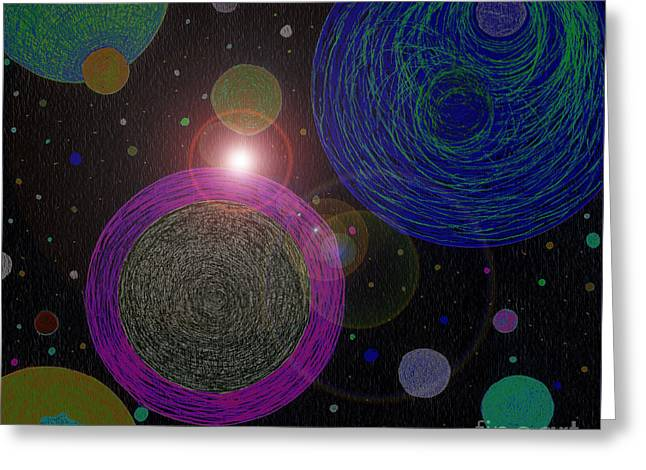 Cosmic Universe Greeting Card by Norma Appleton