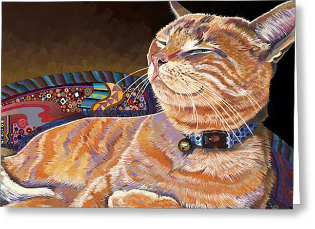 Stylistic Greeting Cards - Cosmo Greeting Card by Bob Coonts