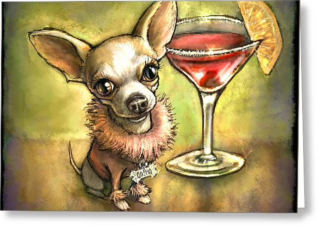 Chihuahua Greeting Cards - Cosmo Greeting Card by Sean ODaniels