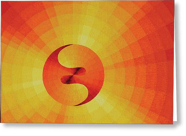 Geometric Artwork Greeting Cards - Cosmogenesis Greeting Card by Peter Antos