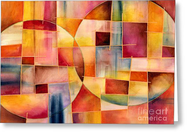 Watercolor! Art Greeting Cards - Cosmopolitan 1 Greeting Card by Hailey E Herrera
