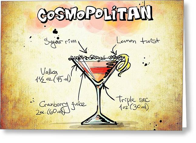 Gathering Mixed Media Greeting Cards - Cosmopolitan Greeting Card by Movie Poster Prints