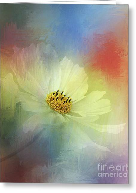 Yellow Stamen Greeting Cards - Cosmos Dreaming Abstract by Kaye Menner Greeting Card by Kaye Menner