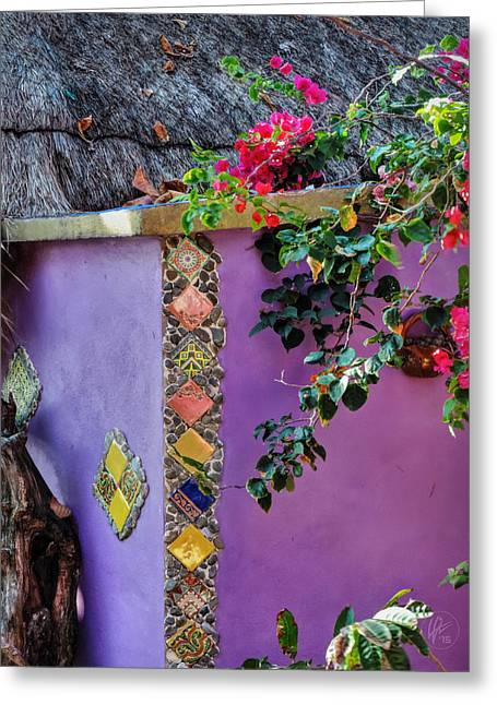 Thatch Greeting Cards - Costa Maya Abstract 002 Greeting Card by Lance Vaughn