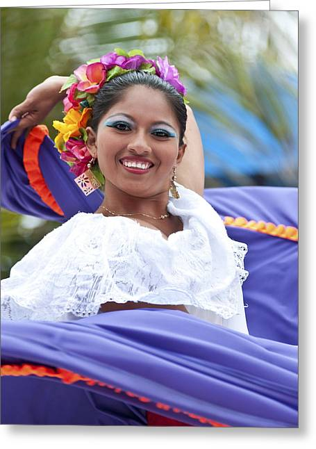 Costa Greeting Cards - Costa Maya Dancer Greeting Card by Steven Sparks