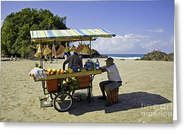 Mango Greeting Cards - Costa Rica Vendor Greeting Card by Madeline Ellis