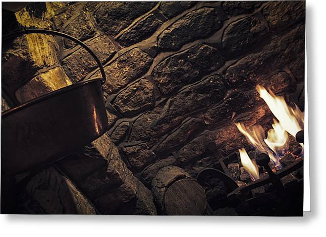 Charcoal Ovens Greeting Cards - Cosy Greeting Card by Stewart Scott