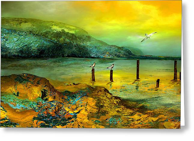 Cliffs Mixed Media Greeting Cards - Cote d Or Greeting Card by Anne Weirich
