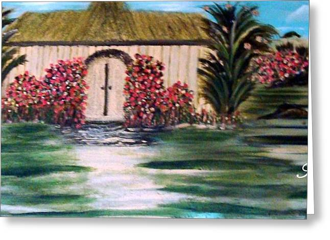 Greeting Cards - Cottage By The Sea Greeting Card by Sherri  Of Palm Springs
