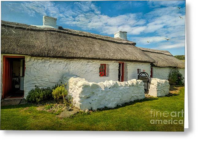 Historic Home Greeting Cards - Cottage In Wales Greeting Card by Adrian Evans