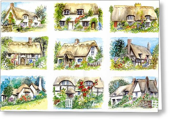 Cottage Minis Greeting Card by Morgan Fitzsimons