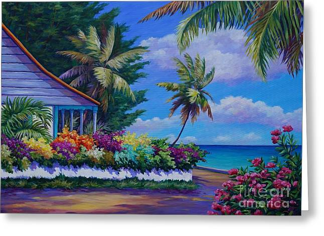 South Sound Greeting Cards - Cottage near Eden Rock Greeting Card by John Clark