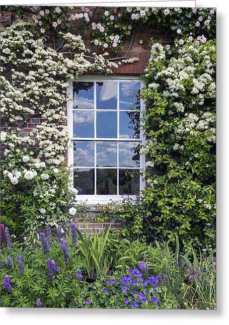 Facades Greeting Cards - Cottage Window Greeting Card by Joana Kruse