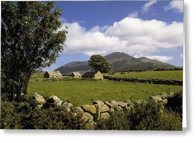 Farm Structure Greeting Cards - Cottages On A Farm Near The Mourne Greeting Card by The Irish Image Collection