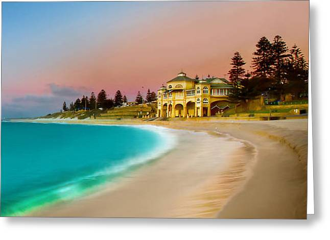 Cottesloe Beach Sunset Greeting Card by Az Jackson
