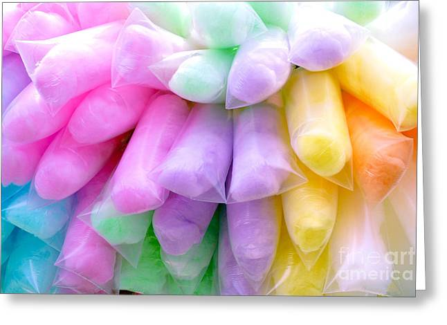 Treats Greeting Cards - Cotton Candy Greeting Card by Amy Cicconi