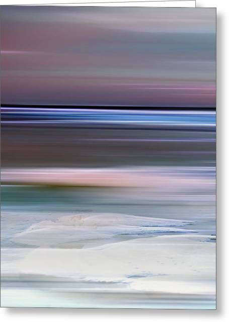 Concept Photographs Greeting Cards - Cotton Candy Beach Triptych Left Greeting Card by Evie Carrier
