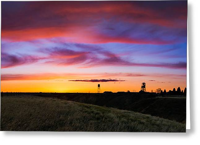 Cotton Candy Sunrise Over The Galt Greeting Card by Dwayne Schnell