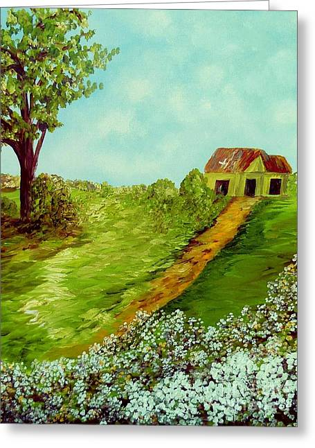 Cotton On A Cloudy Day Greeting Card by Eloise Schneider