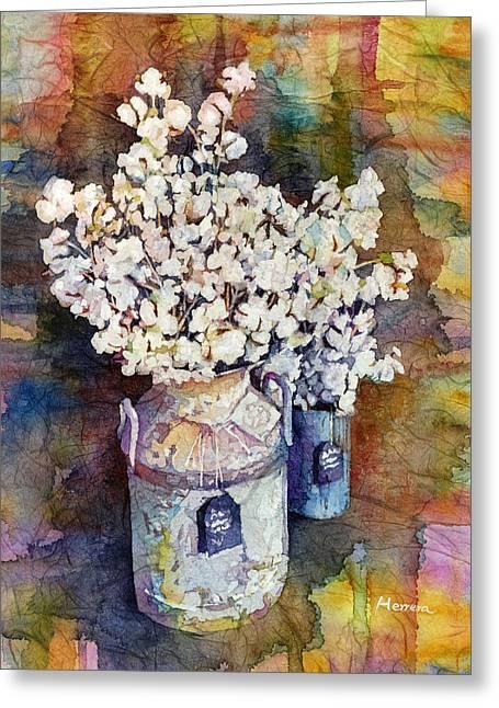 Cotton Stalks Greeting Card by Hailey E Herrera