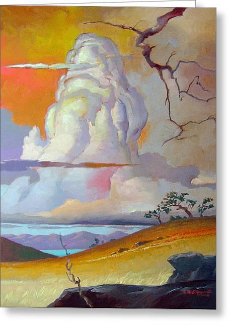 John Stewart Greeting Cards - Cottonwood Clouds 3 Greeting Card by John Norman Stewart