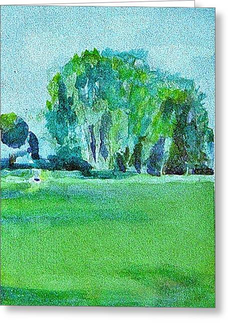 Bryant Paintings Greeting Cards - Cottonwoods Greeting Card by Paul Thompson