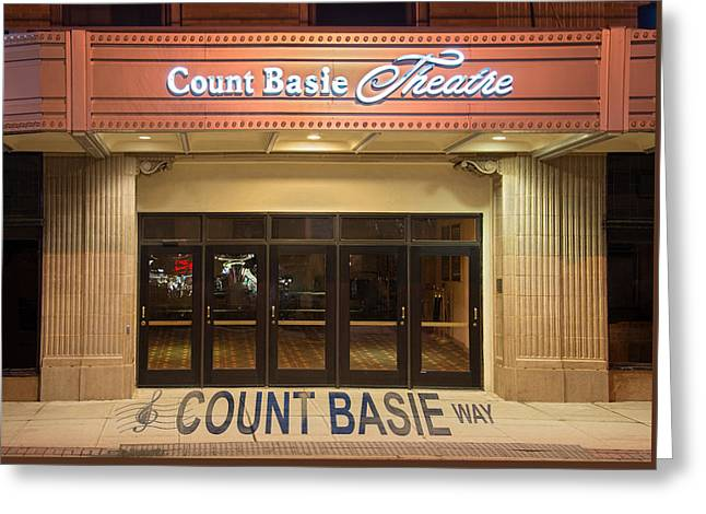 Count Basie Legacy In Red Bank Greeting Card by Gary Slawsky