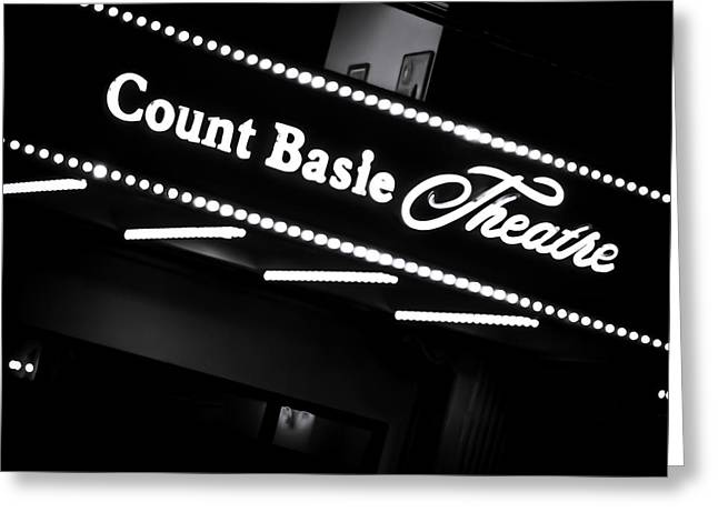 Illuminate Greeting Cards - Count Basie Theatre in Lights Greeting Card by Colleen Kammerer