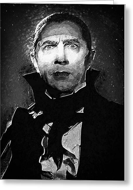 Dracula Digital Greeting Cards - Count Dracula Greeting Card by Taylan Soyturk