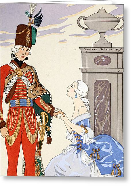 Illustrator Art Greeting Cards - Count On My Oaths Greeting Card by Georges Barbier