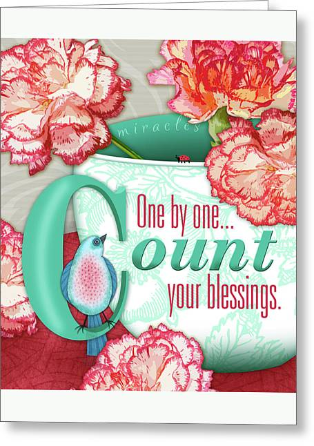 Count Your Blessings Greeting Card by Valerie Drake Lesiak