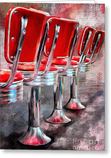 Counter Seating Available Greeting Card by Lois Bryan