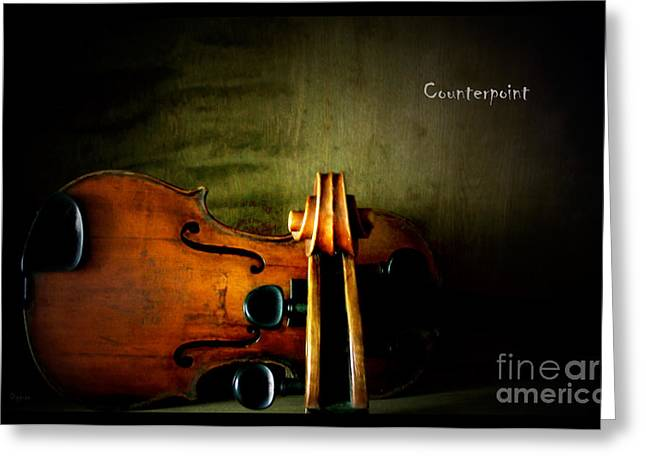Scroll Digital Art Greeting Cards - Counterpoint Greeting Card by Steven  Digman