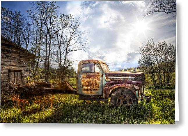 Tennessee Barn Greeting Cards - Country Afternoon Greeting Card by Debra and Dave Vanderlaan