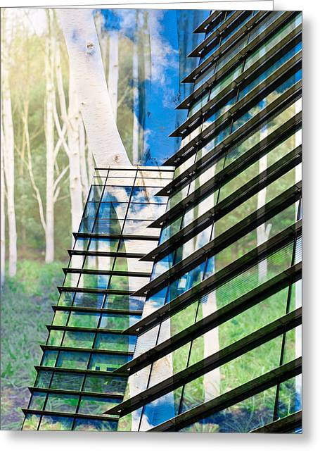Ultra Modern Photographs Greeting Cards - Country and city Greeting Card by Tom Gowanlock