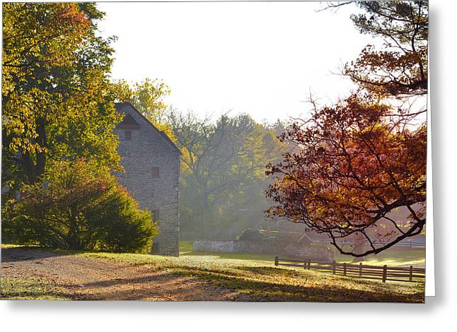 Maine Farms Digital Greeting Cards - Country Autumn Greeting Card by Bill Cannon