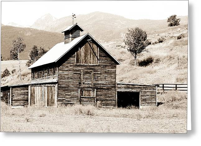 Outbuildings Greeting Cards - Country Barn Greeting Card by Athena Mckinzie