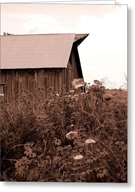 Barn Digital Art Greeting Cards - Country Barn Greeting Card by Audrey Venute