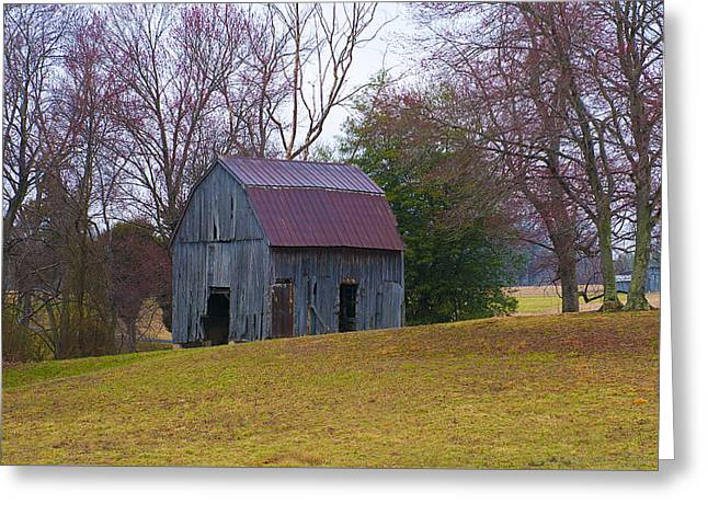 Tin Roof Greeting Cards - Country Barn Greeting Card by Lori Hutchison