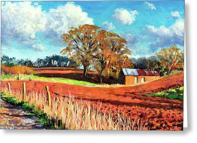 Country Barn Greeting Card by Tilly Willis
