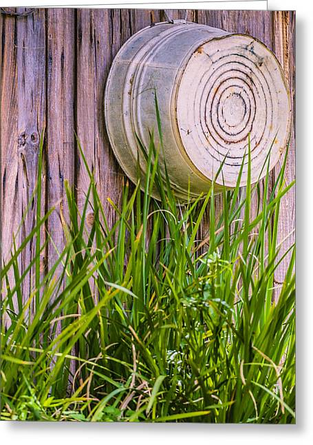 Steel. Grass Greeting Cards - Country Bath Tub Greeting Card by Carolyn Marshall