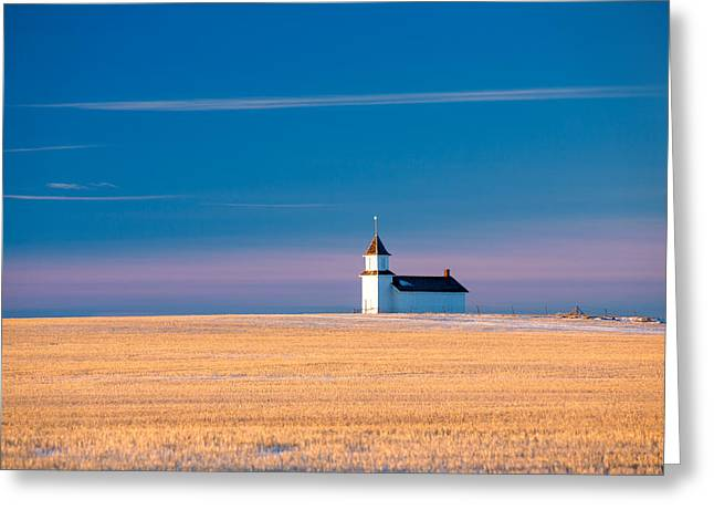 Country Chapel Greeting Card by Todd Klassy