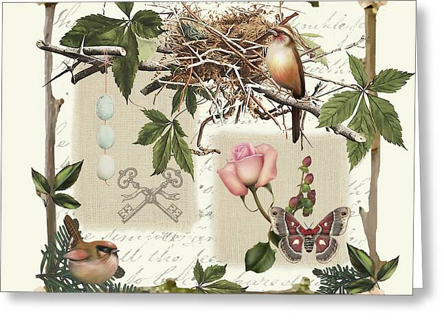 Rustic Prints Greeting Cards - Country Charm-JP3029 Greeting Card by Jean Plout