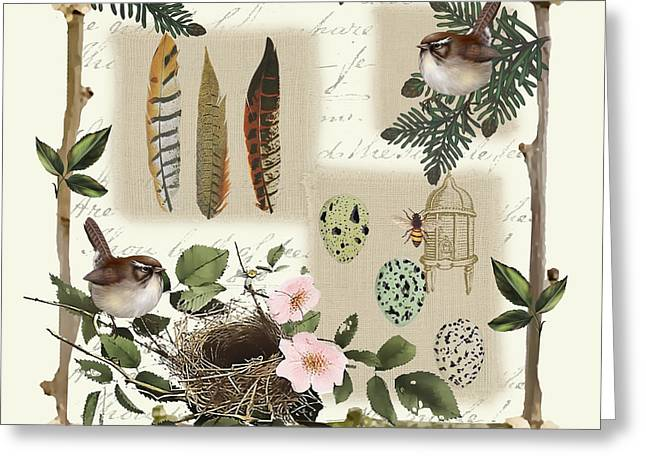 Country Charm-jp3031 Greeting Card by Jean Plout