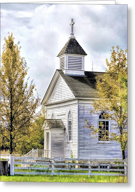 Country Church At Old World Wisconsin Greeting Card by Christopher Arndt