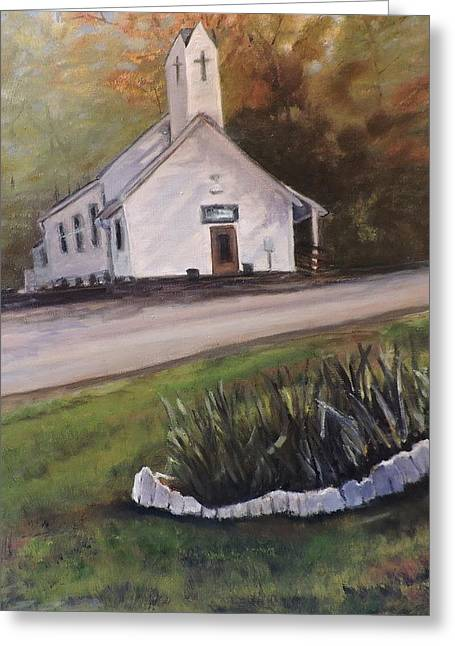 Country Church Greeting Card by Betty Pimm